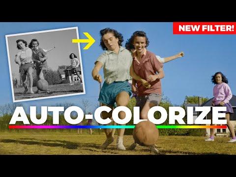NEW FILTER To Auto-Colorize Black & White Photos! Photoshop 2021