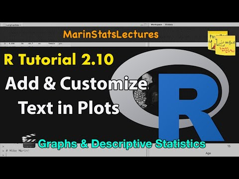 Add and Customize Text in Plots with R | R Tutorial 2 10