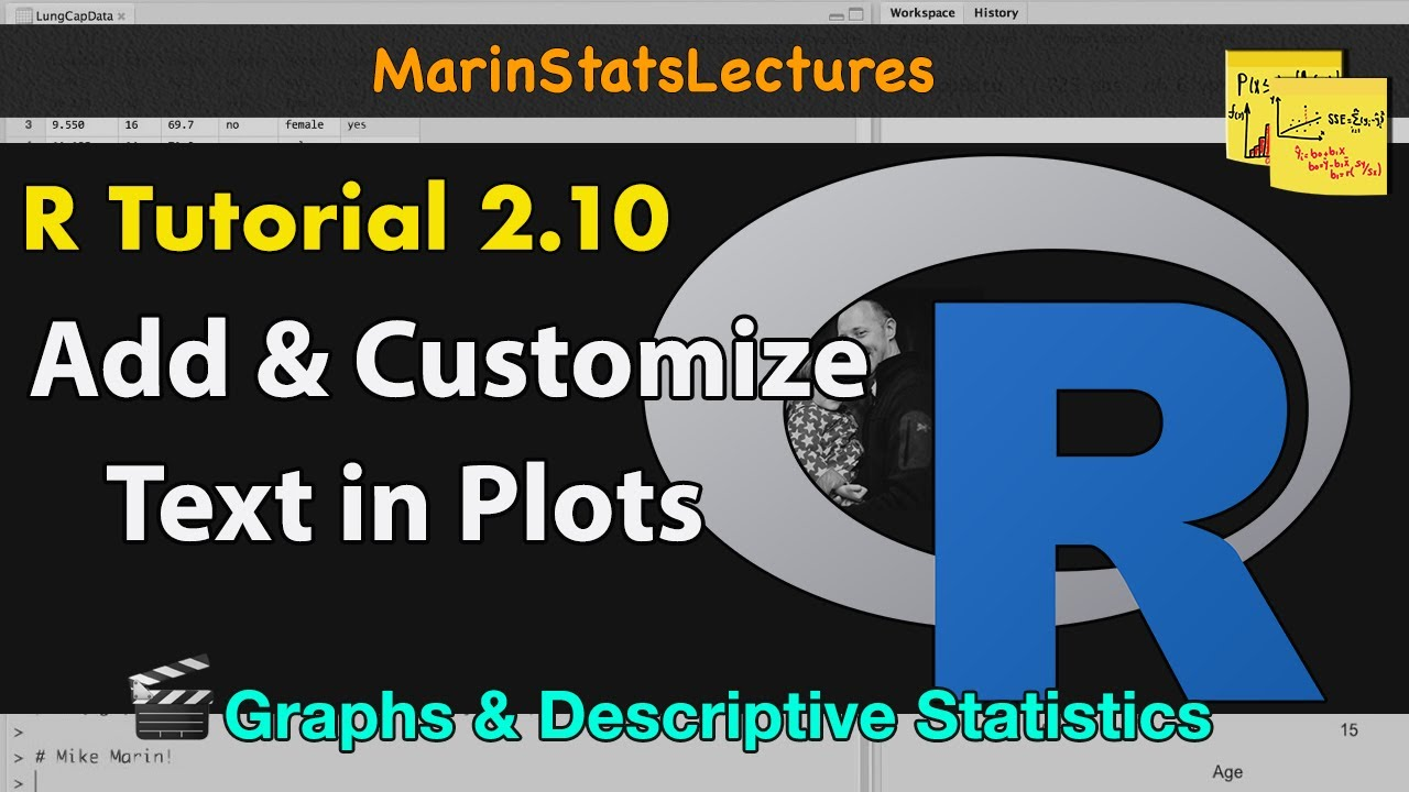 Add and Customize Text in Plots with R | R Tutorial 2 10 |  MarinStatsLectures
