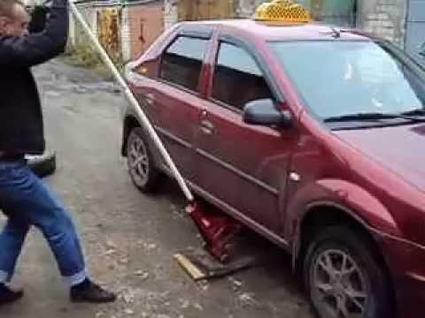 Пит-стопдля замены колёс.