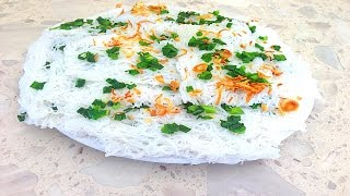 How To Prepare Dried Fine Rice Vermicelli - Banh Hoi