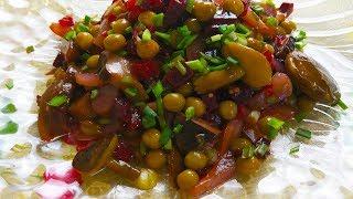Салат из Свеклы с Грибочками... Просто ,но Вкусно !