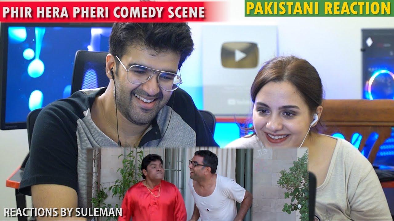 Pakistani Couple Reacts To Phir Hera Pheri Comedy Scene   Paresh Rawal & Johnny Lever