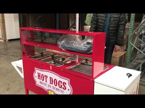 CommercialMobile Hot Dog Cart Trailer Food Vending