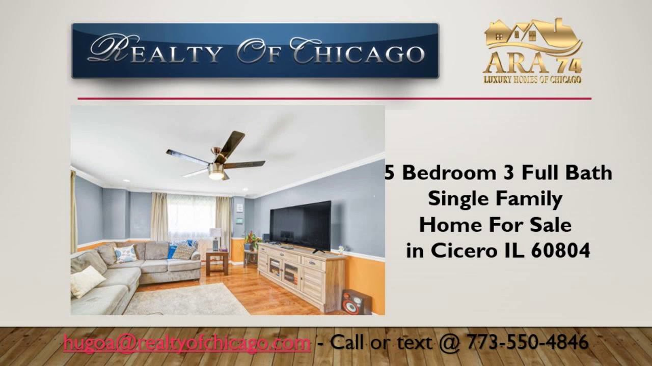 5 bedroom 3 bath houses for sale in cicero il 60804 with extra space rh youtube com
