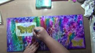 HM Altered Book Project Page 3 - Art Journaling - Mixed Media - How to