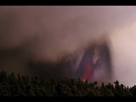 El volcán Cumbre Vieja de La Palma retoma la actividad tras una breve pausa