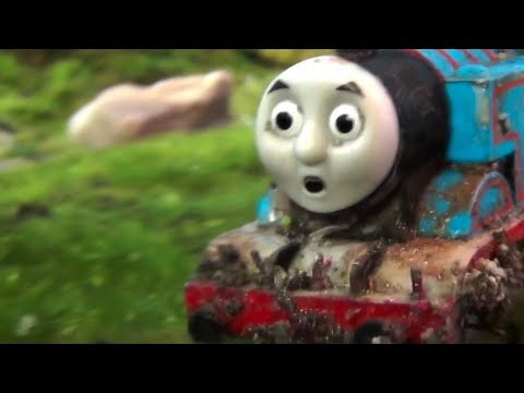 Thomas Falls off a CLIFF! The Other Side of the Mountain Crash Remake - Thomas & Friends