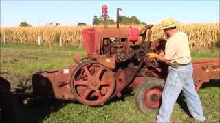 McCormick Deering No. 50 - AW hay baler with Farmall CUB tractor engine Antique power.  Part 2