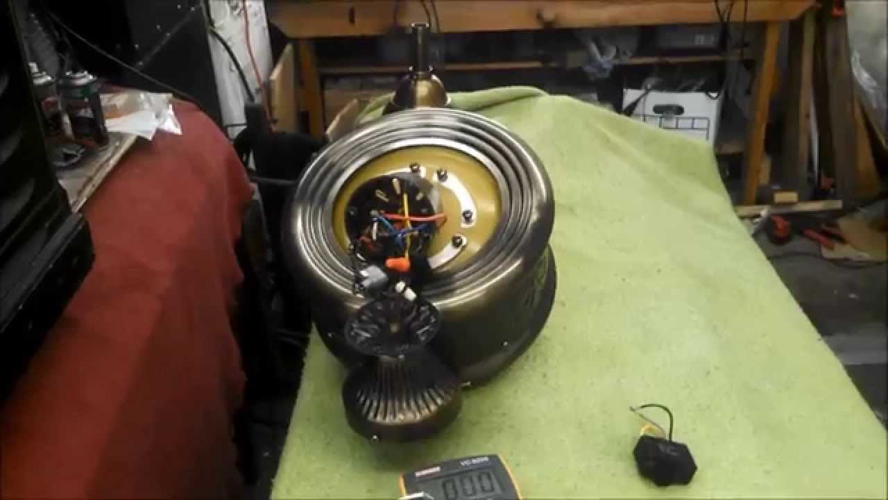 Replacing The Capacitor In An Evergo Emperor Roma Ceiling Fan Motor