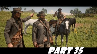 RED DEAD REDEMPTION 2 in 2020 Walkthrough Gameplay Part 35 - (RDR2) PS4 Stealing Horses | Horse Rob