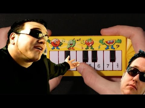 All Star by Smash Mouth but it's played on a $1 piano that I found on ebay