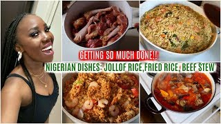 COOKING MOTIVATION 2020 // Cooking 4 amazing Nigerian dishes | ABI'S COOKING