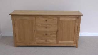 Large Baltic European oak sideboard