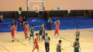 2015.11.3 港島區 甲組學界籃球 四强 張振興(紅) 對 南島中學(綠)