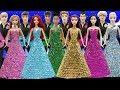 Play Doh Sparkle Dresses Disney Couples Ariel Eric Elsa Jack Frost Anna Kristoff Tiana Naveen