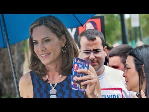 Maria Elvira Salazar Votes In Coral Gables
