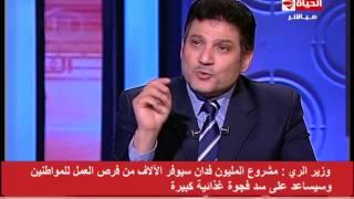 بالفيديو.. وزير الري: مشروع حفر 4000 بئر يساوى مشروع حفر قناة السويس
