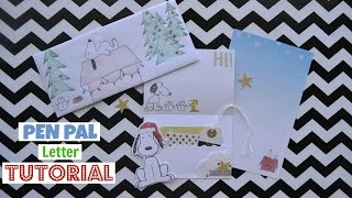 Pen Pal Letter Tutorial Snoopy Theme