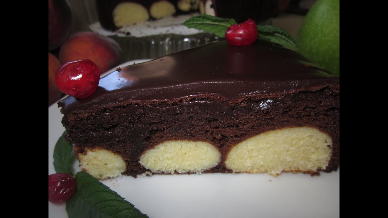 Пирог с творожными шариками рецепт