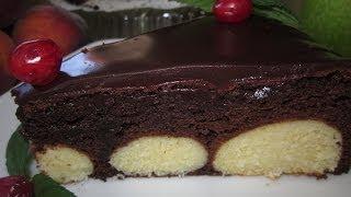 Рецепт - Шоколадный пирог с творожными шариками