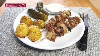 Karkówka w soli szałwiowej z cebulką. Ziemniaki hasselback :: Skutecznie.Tv