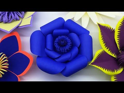 Wedding Background Paper Flower Making   Gaint Beautiful Paper Flowers   Diy Paper Craft