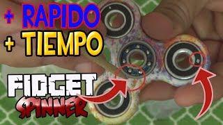 Como Hacer que tu Fidget Spinner Gire mas TIEMPO y RAPIDO | Lasmsilver