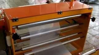 видео: Аппарат для складывания по полам со сворачивание в рулон-,пленка PE 2