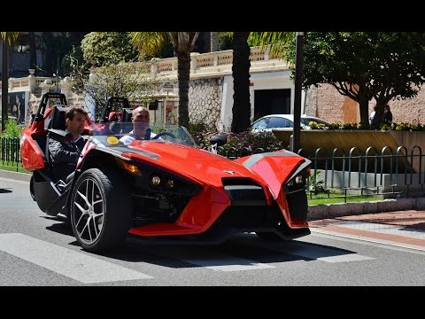 Onboard: POWERSLIDING through Monaco in a Polaris Slingshot SL!