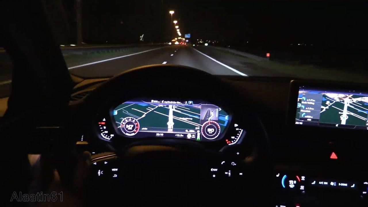 Night Audi A6 Interior