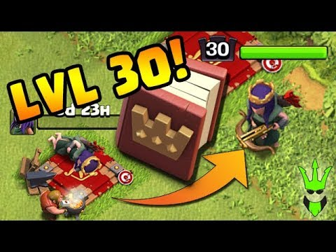 Unlocking Level 30 Queen W/ The Book Of Heroes! - What Clan Game Rewards To Pick? - Clash Of Clans