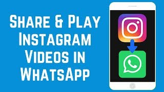 How to Share u0026 Play Instagram Videos in WhatsApp on iOS/Android