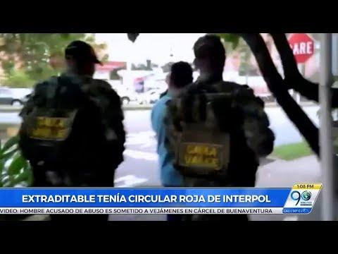 Enero 25 2018 Colombiano capturado en Cali tenía circular roja de la  Interpol por narcotráfico