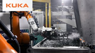 Extreme Temperatures, Extreme Robots: Druckguss Westfalen Relies on KUKA Foundry Technology