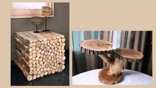Необычная мебель из дерева. Столы, столики, тумбочки