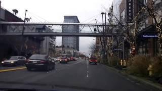 Driving thru Downtown Bellevue WA November 2016 - Бэлвью штат Вашингтон