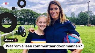 Dwars: Fleur wil vrouwelijke voetbalcommentatoren
