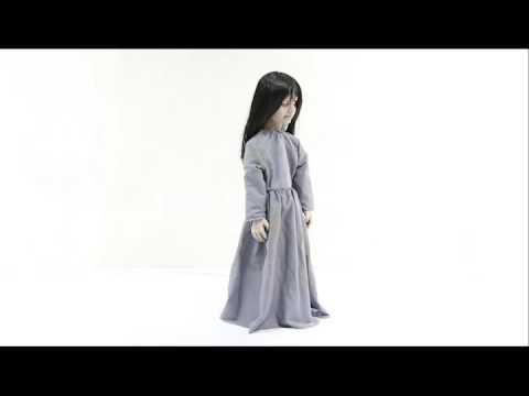 Horror Puppe stehend Licht Sound Böses Mädchen Sad Sally Halloween Fete