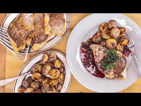 How To Make Fish With Red Wine Sauce And Rosemary Potatoes By Rachael