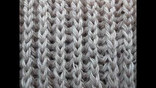 узор англійська резинка  Pattern knitted english gum