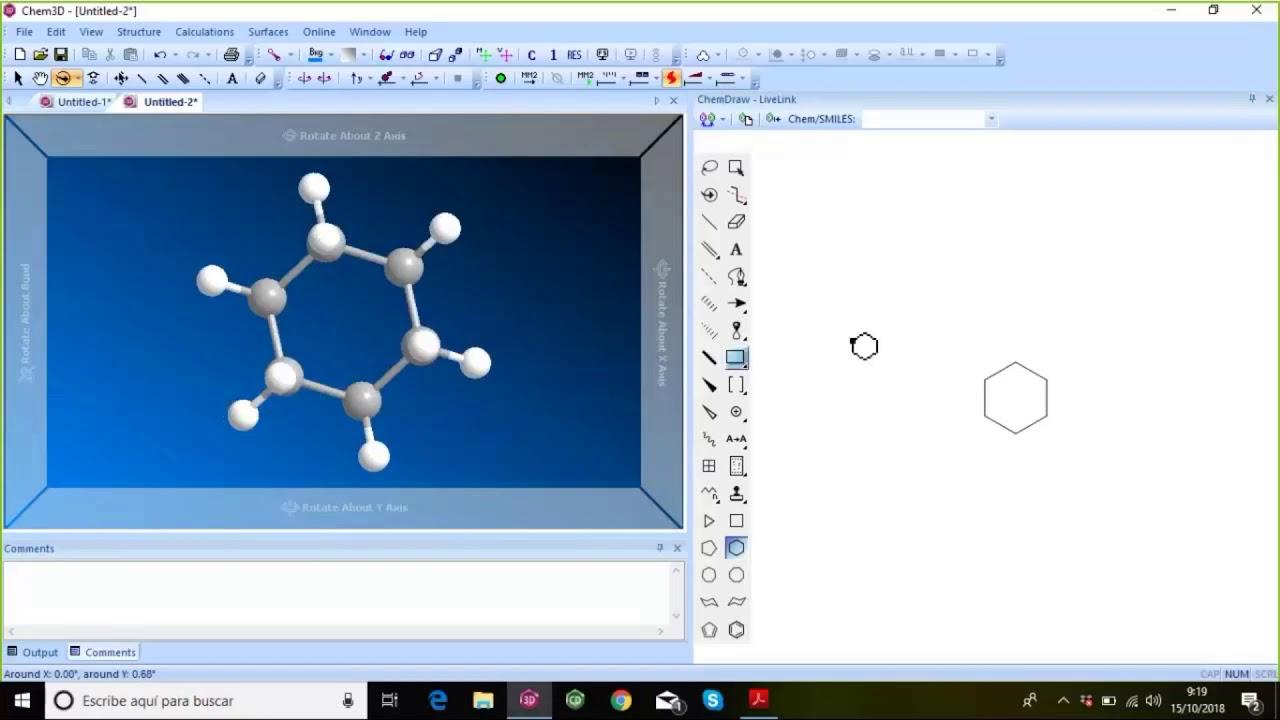 Estructuras Quimicas En 3d Con Chem3d 17 1 Youtube
