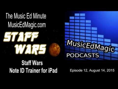 Staff Wars Note ID Trainer for iPad- Music Ed Minute E12