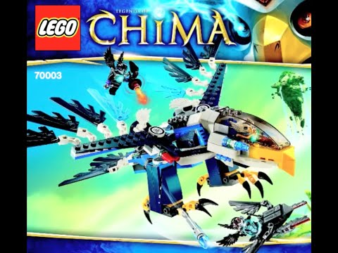 How To Build Lego Legends Of Chima 70003 Eriss Eagle Interceptor