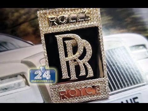 Custom rolls royce diamond pendant youtube custom rolls royce diamond pendant aloadofball Choice Image