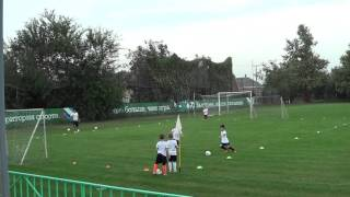 Скоростная техника футбола, обводка, мальчики 7 лет.