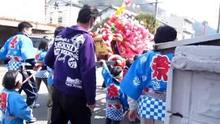 春祭り(斎藤道三の祭り ちなみに秋祭りは信長まつり)で、子供のみこし...