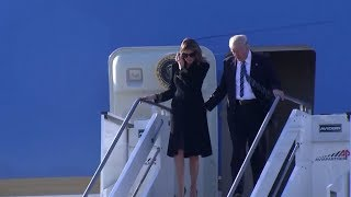 Укрощение Меланьи: супруга Дональда Трампа снова не позволила мужу взять её руку
