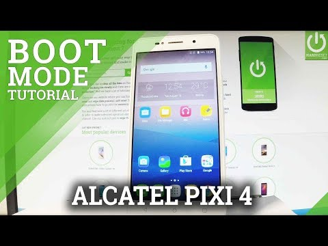 How to Open Boot Mode in ALCATEL Pixi 4 - Exit Bootloader - YouTube