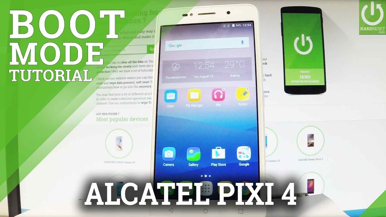 How to Open Boot Mode in ALCATEL Pixi 4 - Exit Bootloader